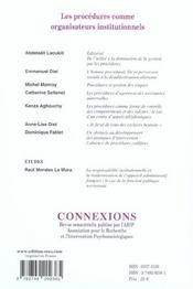 Connexions T.79 - 4ème de couverture - Format classique