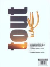 Tout vance t.8 ; intégrale Ringo t.1 - 4ème de couverture - Format classique