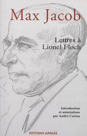 Lettres de max jacob a lionel floch - Intérieur - Format classique