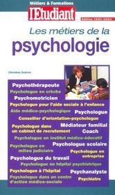 Les métiers de la psychologie (édition 2003/2004) - Intérieur - Format classique