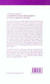 Le Roman Le Plus Intelligent. Les Liaisons Dangereuses De Laclos. - 4ème de couverture - Format classique