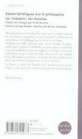 Essais hérétiques sur la philosophie de l'histoire - 4ème de couverture - Format classique