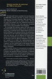 Histoire secrète du patronat de 1945 à nos jours ; le vrai visage du capitalisme français - 4ème de couverture - Format classique