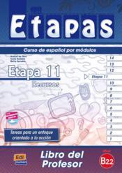 Etapas 11 ; libro del profesor - Couverture - Format classique