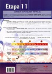 Etapas 11 ; libro del profesor - 4ème de couverture - Format classique