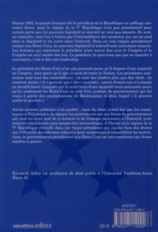 Histoire du gouvernement présidentiel aux USA - 4ème de couverture - Format classique