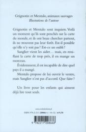 Grignotin et Mentalo, animaux sauvages - 4ème de couverture - Format classique