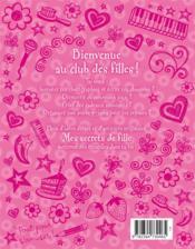 Mes secrets de fille - 4ème de couverture - Format classique