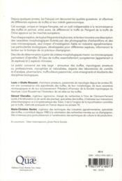 Truffes d'Europe et de Chine - 4ème de couverture - Format classique