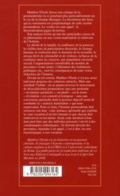 Desocialisation Crise De La Post-Modernite - 4ème de couverture - Format classique