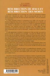 Resurrection De Jesus Et Resurrection Des Morts-Foi, Histoire Et Theologie - 4ème de couverture - Format classique