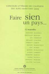 Faire Sien Un Pays - Couverture - Format classique