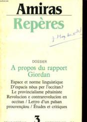 Amiras Reperes N°3 - Dossier A Propos Du Rapport Giordan - Couverture - Format classique