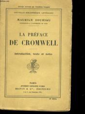 La Preface De Cromwell - Couverture - Format classique
