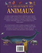 Le monde des animaux - 4ème de couverture - Format classique