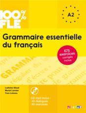 100% FLE ; grammaire essentielle du français a1/a2 - Couverture - Format classique