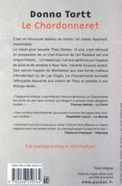 Le chardonneret - 4ème de couverture - Format classique
