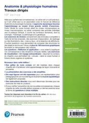 Anatomie et physiologie 12e ed travaux diriges - 4ème de couverture - Format classique