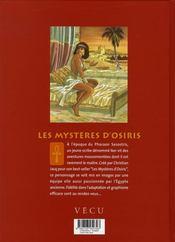 Les mystères d'osiris t.1 ; l'arbre de vie - 4ème de couverture - Format classique