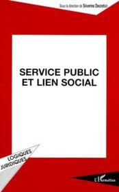 Service public et lien social - Couverture - Format classique