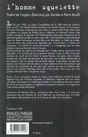 L'Homme Squelette - 4ème de couverture - Format classique