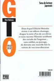 GTO ; great teacher Onizuka T.3 - 4ème de couverture - Format classique