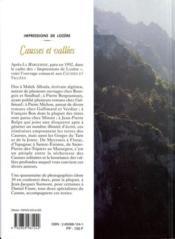Impressions De Lozere - 4ème de couverture - Format classique
