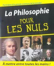 La Philosophie Pour Les Nuls - Intérieur - Format classique