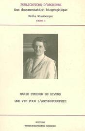 Marie Steiner De Sivres - Couverture - Format classique