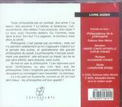 Presentations de la philosophie - 4ème de couverture - Format classique