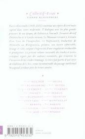 Pierre Klossowski - 4ème de couverture - Format classique