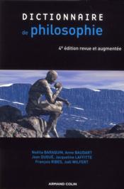 Dictionnaire de philosophie (4e édition) - Couverture - Format classique