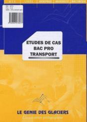 Études de cas bac pro transport - Couverture - Format classique