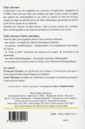 Silves grecques 2013-2014 ; Sophocle, Oedipe à Colone ; Plutarque, vie d'Antoine - 4ème de couverture - Format classique