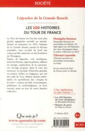 Les 100 histoires du tour de France - 4ème de couverture - Format classique