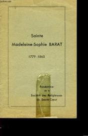 Sainte Madeleine-Sophie Barat - 1779-1865 - Couverture - Format classique
