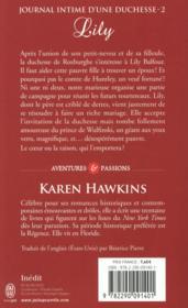 Journal intime d'une duchesse t.2 ; Lily - 4ème de couverture - Format classique