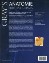 Gray's anatomie pour les étudiants (3e édition) - 4ème de couverture - Format classique
