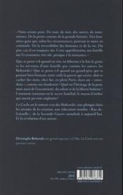 La cache - 4ème de couverture - Format classique