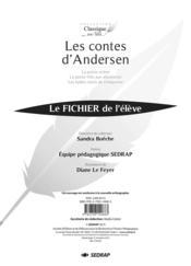Les contes d'Andersen ; fichier de l'élève - Couverture - Format classique