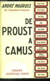 De Proust A Camus - Couverture - Format classique