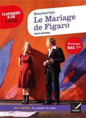 Le mariage de Figaro ; 1re ; parcours : la comedie du valet - Couverture - Format classique
