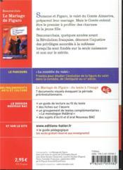 Le mariage de Figaro ; 1re ; parcours : la comedie du valet - 4ème de couverture - Format classique