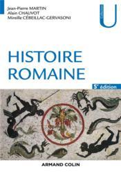 Rome t.1 ; histoire romaine (5e édition) - Couverture - Format classique