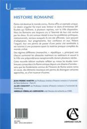 Rome t.1 ; histoire romaine (5e édition) - 4ème de couverture - Format classique