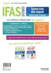 Je prépare ; IFAS ; épreuve orale aide-soignant ; réussir l'exposé et l'entretien (édition 2020) - 4ème de couverture - Format classique