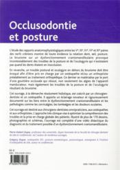 Occlusodontie et posture ; du bruxisme au mal de dos - 4ème de couverture - Format classique