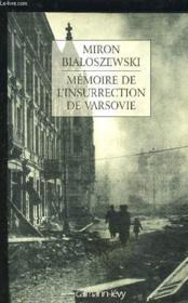 Memoire de l'insurrection de varsovie - Couverture - Format classique