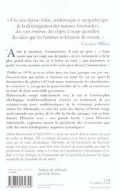 Memoire de l'insurrection de varsovie - 4ème de couverture - Format classique