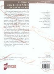 REVUE LA LICORNE N.71 ; les images chez Claude Simon ; des mots pour le voir - 4ème de couverture - Format classique